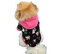 Dog Shirt / T-Shirt / Hoodie Black Dog Clothes Spring/Fall Color Block Cute / Casual/Daily