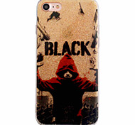 For iPhone 7 7Plus 6S 6Plus Case Cover Red People Pattern Flashing Powder TPU  Acrylic Material IMD Process Phone Case
