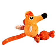 Cat Toy Pet Toys Plush Toy Mouse Orange Textile