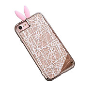 Per Resistente agli urti / Placcato Custodia Custodia posteriore Custodia Geometrica Resistente PC per AppleiPhone 7 Plus / iPhone 7 /