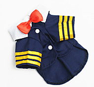 Dog Costume Dog Clothes Cute Casual/Daily Characters Blue