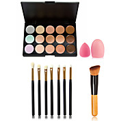 15 Concealer/ContourPowder Puff/Beauty Blender / Makeup Brushes Wet Face Long Lasting / Concealer / Uneven Skin Tone / Natural China