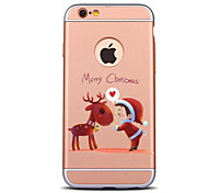 For iPhone 7 7 Plus Christmas Deer And Children Pattern Plating Frosted Hard PC Back Case for iPhone 7 7 Plus 6s 6 Plus SE 5s 5