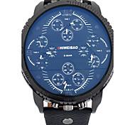 Masculino Relógio Esportivo / Relógio Militar / Relógio Elegante / Relógio de Moda / Relógio de Pulso QuartzCalendário / Três Fusos
