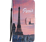 For Google Pixel XL Pixel PU Leather Material Eiffel Tower Pattern Painting Phone Case