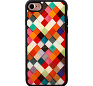 For iPhone 7 7plus iPhone Case Cover Plaid Pattern Painted TPU Material