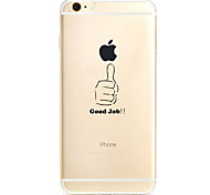 For Apple iPhone 7 7Plus 6S 6Plus Case Cover Hand Pattern TPU Material Soft Case Phone Case