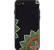 For iPhone 7 7Plus 6s 6Plus Case Cover Green Flower Pattern TPU  Acrylic Material Phone Case