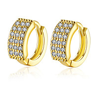 High Quality Full Zircon Shiny Gold Ear Cuff Clip On Earrings For Women Trendy Clip Earring Girl Gift  Fashion Jewelry