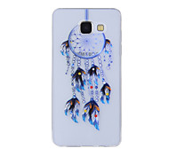 For Samsung Galaxy A8(2016) A8 A7 A5 A3 A510 A310 Case Cover Blue Dreamcatcher Painted Pattern TPU Material Phone Case