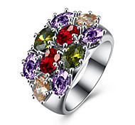 Created Opal Stone wedding Rings for women Jewelry CZ Diamond rings Female  AAA Austria Crystals Finger Rings