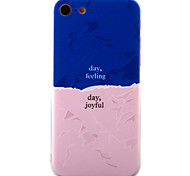 Для Рельефный / С узором Кейс для Задняя крышка Кейс для Геометрический рисунок Твердый Акрил для AppleiPhone 7 Plus / iPhone 7 / iPhone