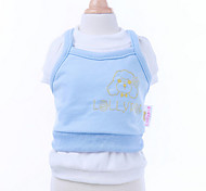 Dog Vest Dog Clothes Casual/Daily Animal Blue
