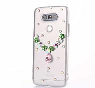For LG G5 G4 K10 Rhinestone Case Back Cover Case Heart Hard PC For LG K7 LG K4 LG G3 LG V10
