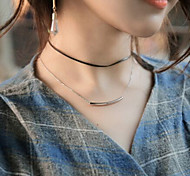 Gold Silver Smile Fashion Style Necklace Choker Necklaces Jewelry Wedding Tattoo Style Fabric Women 1pc Gift