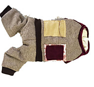 Dog Hoodie Dog Clothes Cute Solid Khaki