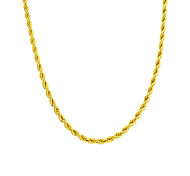 Copper 24K Gold Rope Chain Necklace Gold Necklace For Man Women 6MM Width 18 inch/20 inch/24 inch/30 inch/36 inch