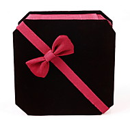 Jewelry Boxes Fabric / Paper 1pc Black 5