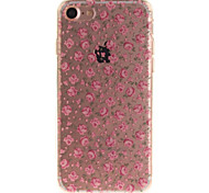 For iPhone 7 6S 6TPU Material IMD Process Pink Floral Pattern Phone Case
