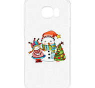 For Samsung S7 Edge S6 Pattern Case Back Cover Case Christmas Snowman And Baby Doll Soft TPU for S7 S6 Edge Plus S6 Edge S5 Mini S5 S4 Mini S4