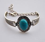 Men's Women's Chain Bracelet Alloy Bohemian Drop Dark Green Jewelry 1pc