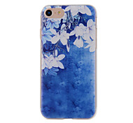 For iPhone 7 7plus 6S 6plus Case Cover White Flowers Painted Pattern TPU Material Phone Case