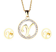 Jewelry 1 Necklace 1 Pair of Earrings Party Daily Casual 1set Women Gold Wedding Gifts