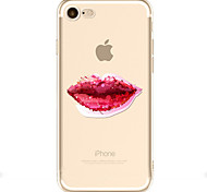 For Apple iPhone 7  6S Case Cover Sexy Lips Pattern Painted TPU Material Soft Package Phone Case