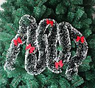 10PCS Christmas Tree Ornament Christmas Decorations Green White Christmas Tinsel Christmas Christmas Madder Tops(Style random)