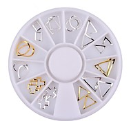 1pcs Gold Silver Hollow Metal Frame Nail Studs  Nail  Wheel