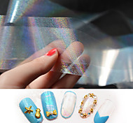 1pcs New Transparent Nail Art Foils Starry Sky Glitter Nail Transfer Sticker Paper