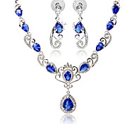 May Polly  New wave crown angel wings Earrings Necklace zircon set