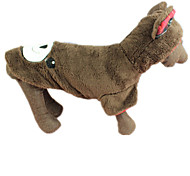 Dog Coat Dog Clothes Casual/Daily Animal Brown