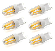 2W G9 Luces LED de Doble Pin T 4 COB 190 lm Blanco Cálido / Blanco Fresco Decorativa AC 100-240 V 6 piezas