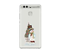 For Huawei P9 P9 Lite  P8 P8lite Pattern Case Back Cover Case Christmas Snowman Soft TPU for P9 Plus P9 Mini Max P7 Honor 6 Honor 6 Plus Honor 4C