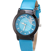 Women's Fashion Watch Water Resistant / Water Proof Quartz PU Band Casual Blue Red