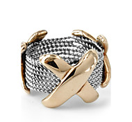 Fashion Cross Shape 316L Stainless Steel Ring