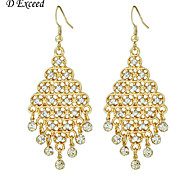 Women's Hematite Cutout Jet Crystal Chandelier Tiered Dangle Earrings For Christmas Gift ER152526