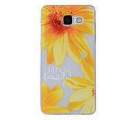 For Samsung Galaxy A8(2016) A8 A7 A5 A3 A510 A310 Case Cover Small Sunflower Painted Pattern TPU Material Phone Case