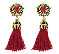 Fashion Rhinestone Rope Tassel Chain Earrings Women