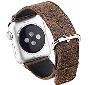 crepa grano leopardo dell'orologio afflitto banda a mano cinturino in vera pelle per Apple watch1 / 2