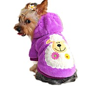 Cat Dog Hoodie Dog Clothes Winter Spring/Fall Cartoon Cute Casual/Daily Purple Yellow Red Green Blue
