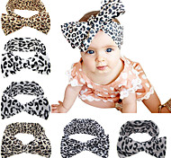 Baby Kid Girl Toddler Infant Leopard Print Floral Hairband Bow Knot Headband Elastic Stretch Hair Band Accessories