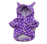 Dog Clothes/Jumpsuit Purple Dog Clothes Winter / Spring/Fall Solid Cute / Casual/Daily / Keep Warm