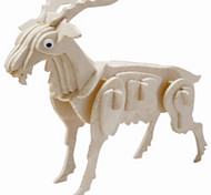 Jigsaw Puzzles Wooden Puzzles Building Blocks DIY Toys Goat 1 Wood Ivory Model & Building Toy