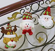 1шт случайных горячей продажи рождественские украшения Санта-Клауса снеговик рождественские фигурки