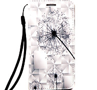 For LG G4 Plus Case Cover Dandelion Pattern 3D Relief PUP Material Phone Case