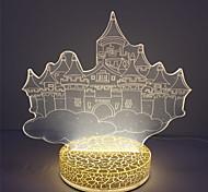 Vente en gros cadeau de Noël lampe de nuit 3d illusion usb haute qualité