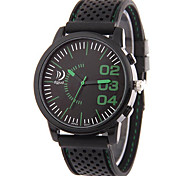 Unisex Fashion Watch Calendar Noctilucent Quartz Silicone Band Casual Black