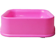 Dog Feeders Pet Bowls & Feeding Casual/Daily Pink Plastic